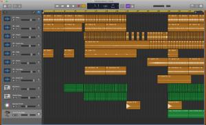 Screenshot of a student's Garageband remix project from Fall 2019.